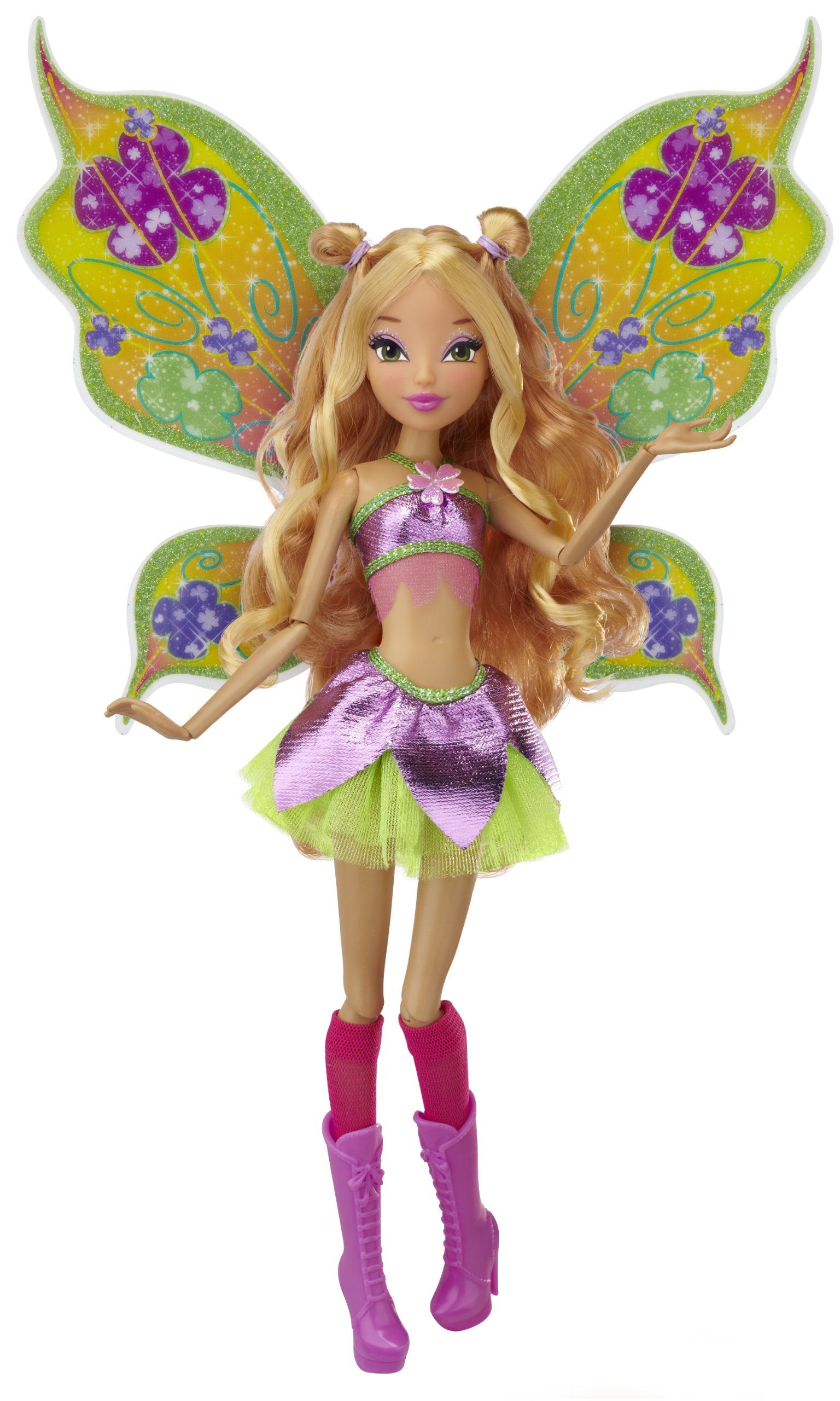 Winx Club Flora Sparkling Wings - m Winx club 11.5 deluxe fashion doll flora