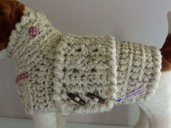 Medium Dog Clothes Crochet Dog Sweater by CTDESIGNSBESPOKEBAGS ...