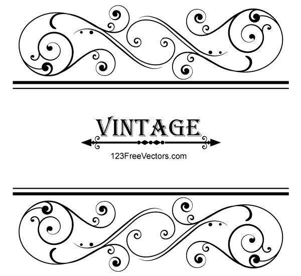 Vector Vintage Floral Ornamental Frame Design Free Vector Graphics Download Free Vector Clip Art Packs Frame Border Design Vector Free Free Vector Art