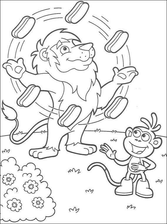 Dora The Explorer Coloring Pages 123