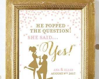 picture regarding He Popped the Question Printable named Bridal Shower Indication Printable Obtain . He Popped the
