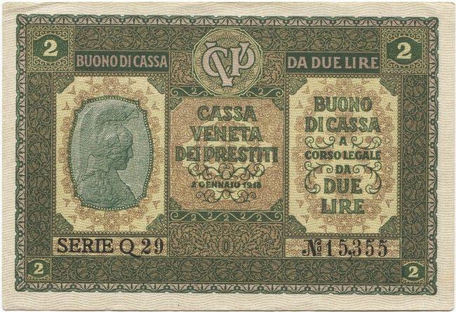 2 Lire 1918 (Italia mit Helm)