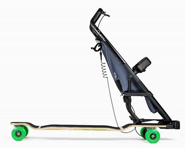 This Longboard-Stroller Hybrid Lets Kids And Parents Have Fun On