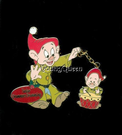 disney 12 twelve days of christmas dopey twelve drummers drumming le pin