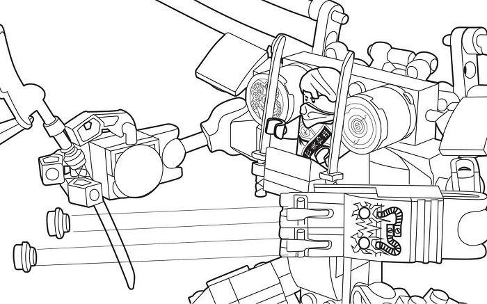 Coloriage Ninjago - Ninja dans un robot | Coloriage ...