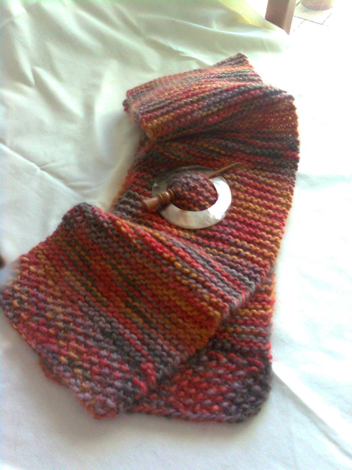 Easy scarf pattern=cast on 50 sets using Harmony Moda Vera wool ...