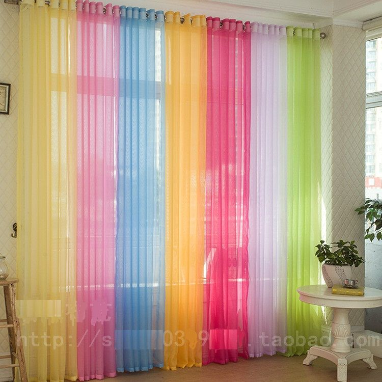 Hot sale ~ wholesale 2pcs/lot 100cm*270cm europe gauze curtain 20 ...