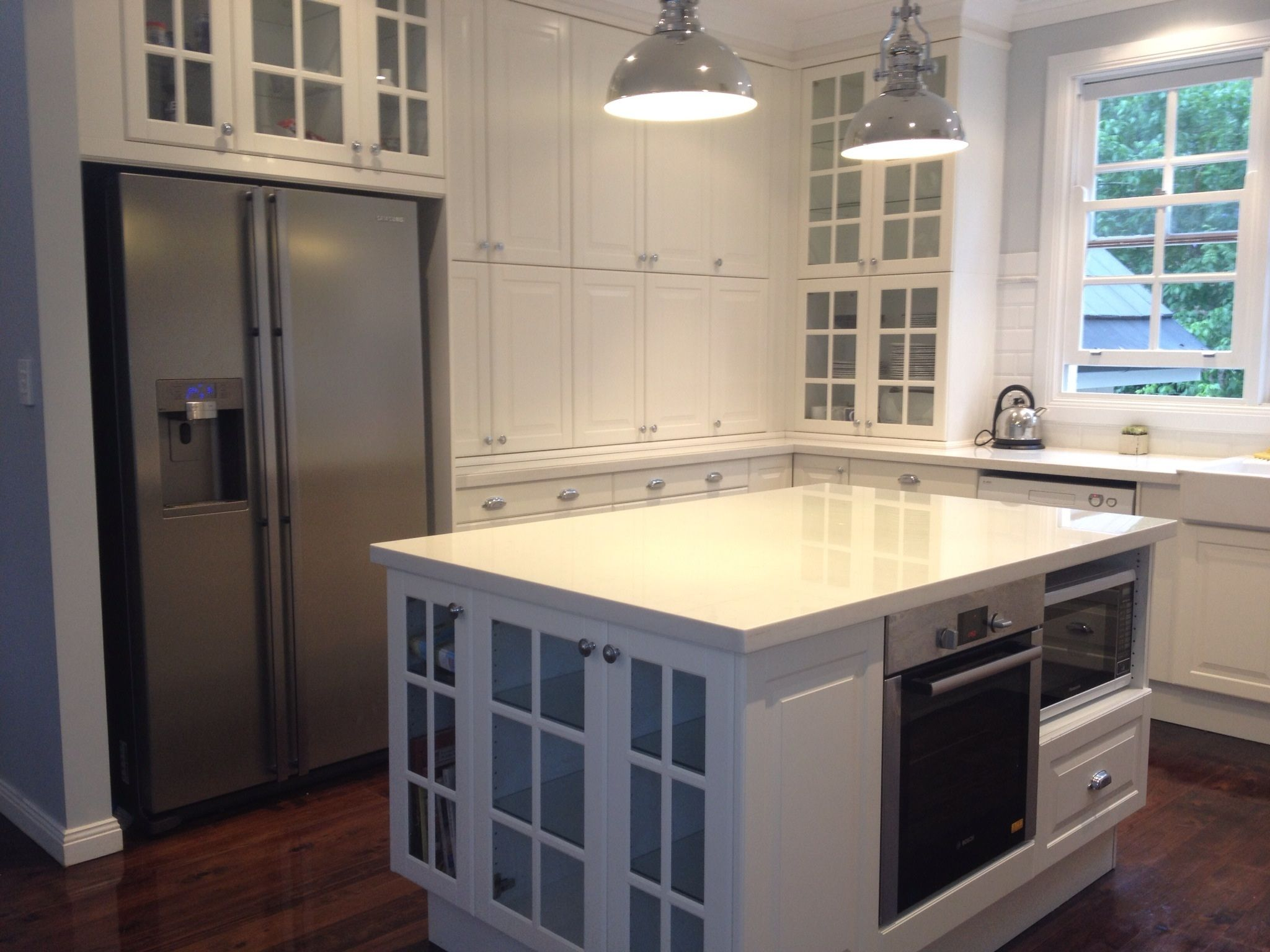 Merveilleux Tremendous Remodel White Gloss Acrylic Built In Ikea Kitchen Cabinets Ideas  Added White Large Kitchen Island