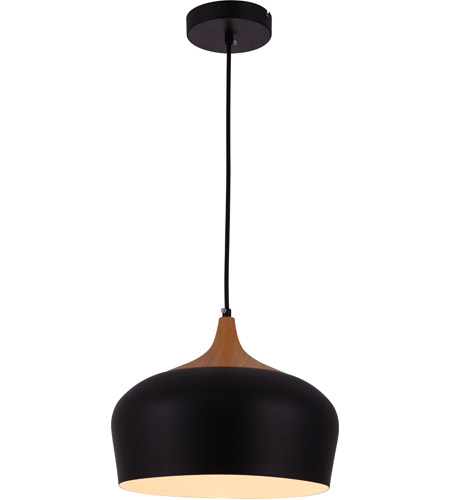 Living District Ldpd2005 Nora 1 Light 12 Inch Black And Natural Wood Pendant Ceiling Light Ceiling Pendant Lights Wood Pendant Light Large Pendant Lighting