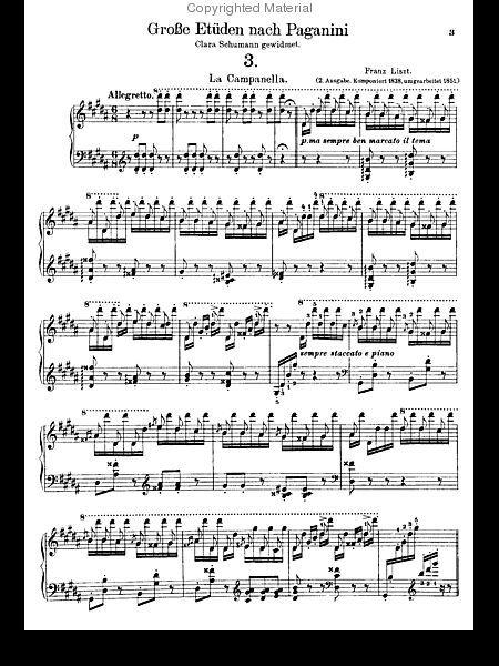 La Campanella Sheet Music By Franz Liszt Sheet Music Music Theory Piano Music