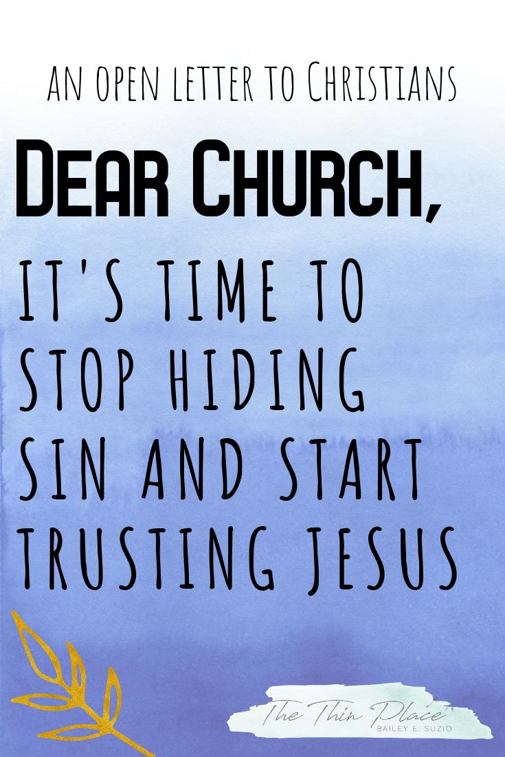 Dear Church, Stop Hiding Sin | FaithsMessenger Com