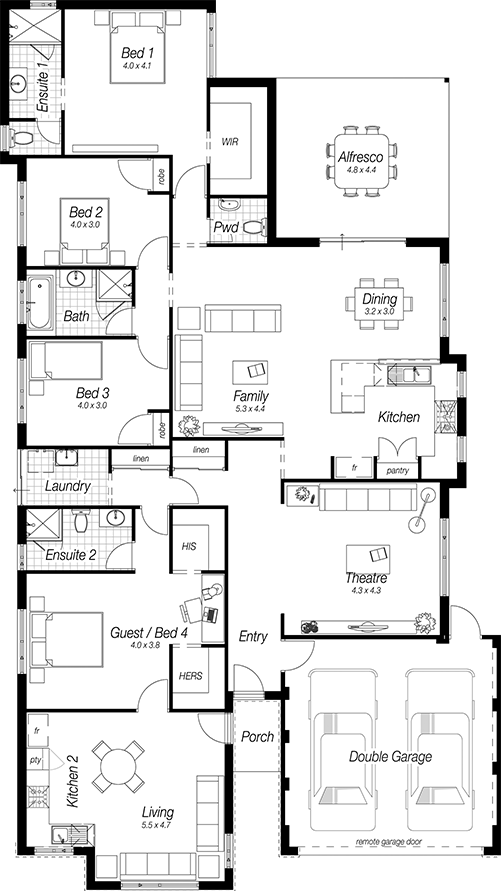 Floor Plans Designs For Homes | The Lewes | Complete Homes | Planos ...