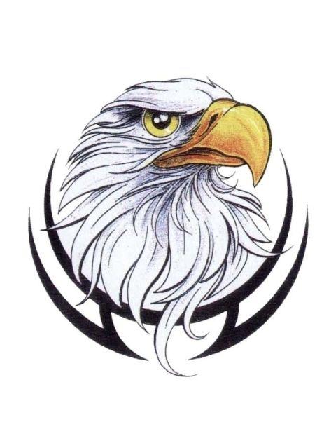 Download Free Tribal Eagle Head Tattoo Designs eagle head on a ...