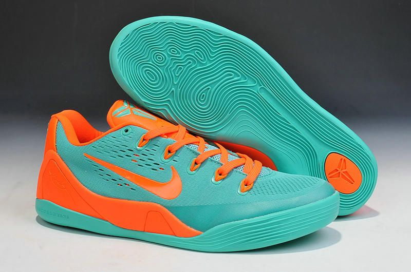 Buy Cheap Nike Kobe 9 2014 Jade Orange Mens Shoes