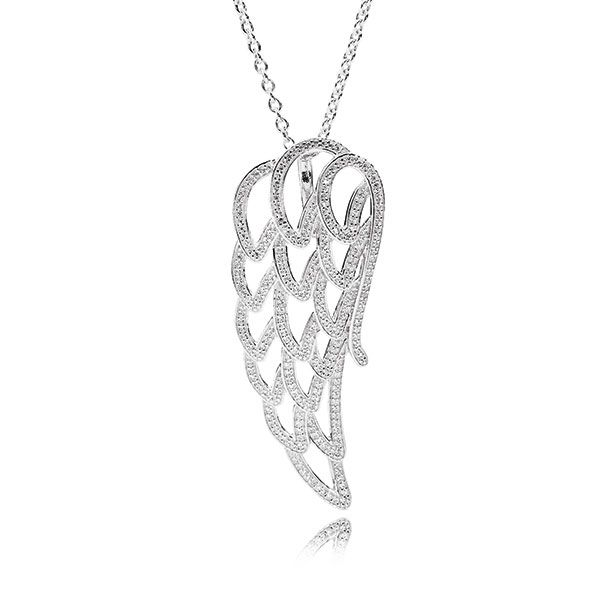 Pandora Angel Wing Pendant Pandora Bracelet Charms Pandora Necklace Jewelry