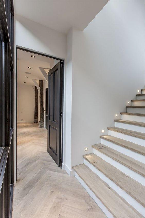 Best Stair Lights Белые Деревянные Полы Лестничные 400 x 300