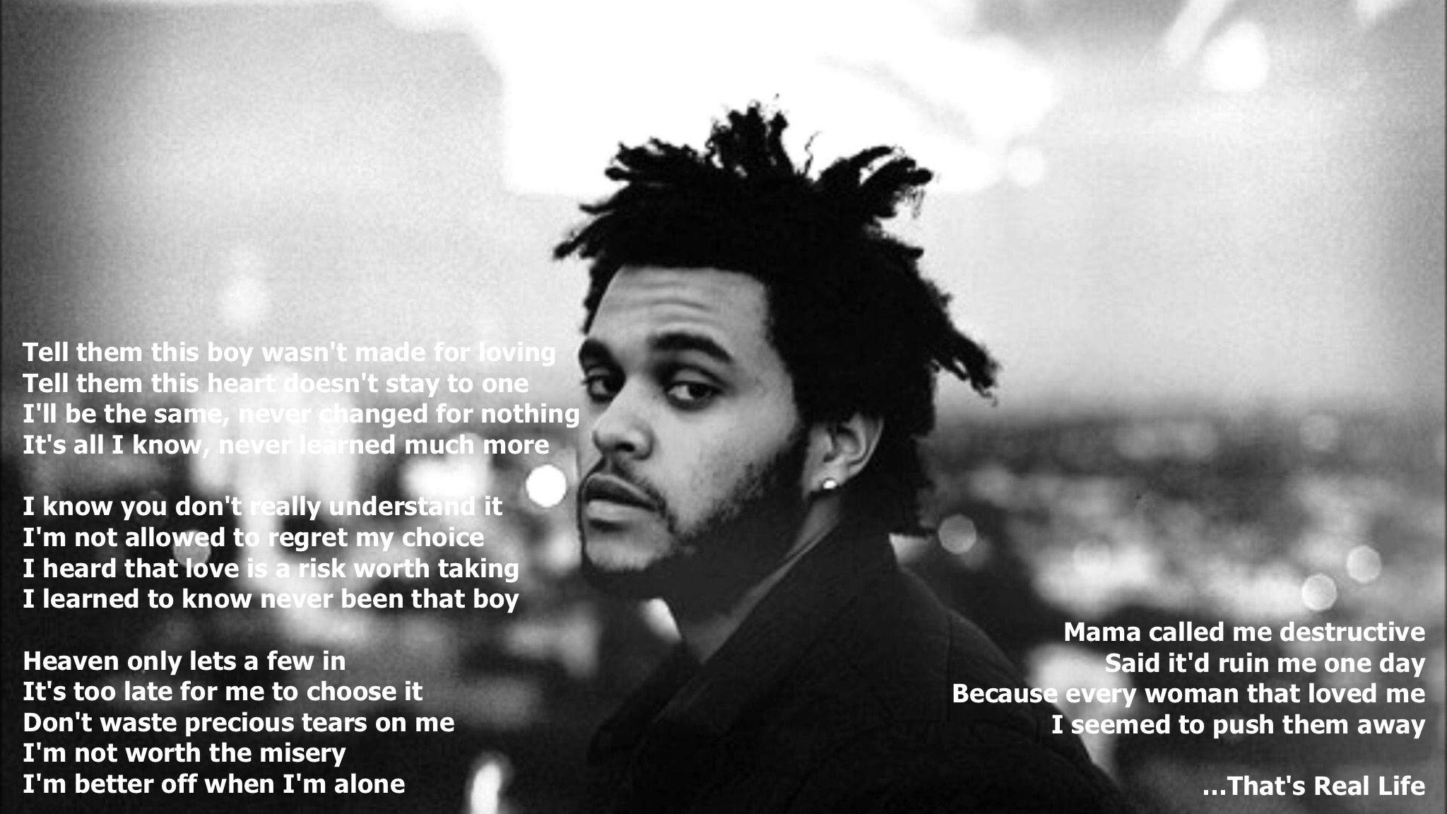 The Weeknd Real Life Lyrics