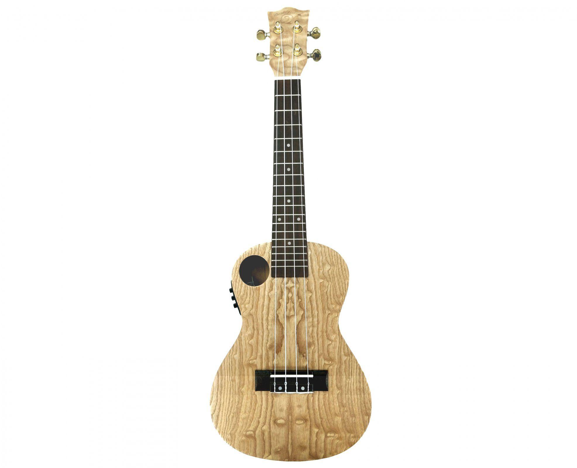 Amahi snail quilted ash ukulele with eq ukulele folk