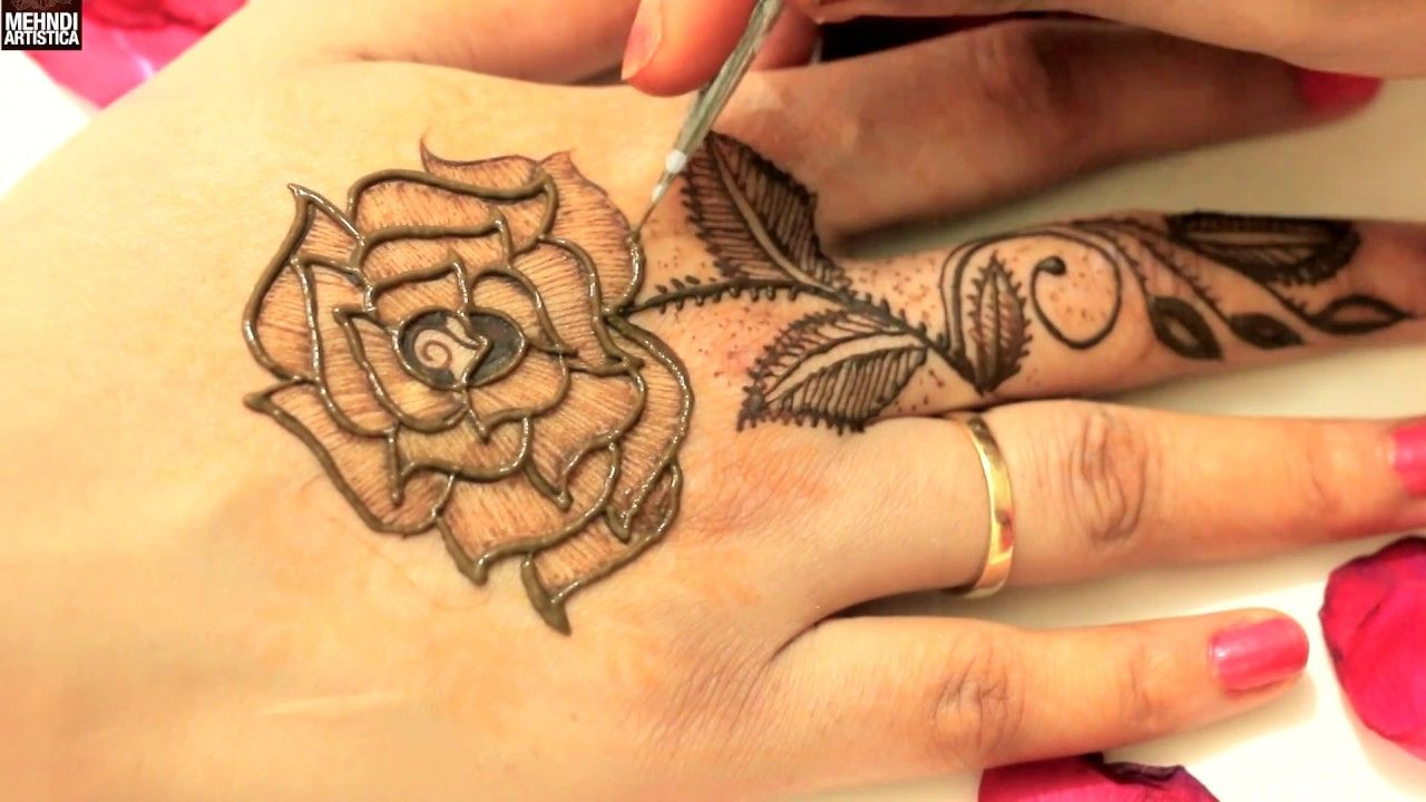 Original Leafy Roses Mehndi Designs For Upper Side Latest Easy Simple Me Desain Henna Mehndi Designs Mehndi