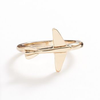 lc lauren conrad gold tone airplane ring - Lauren Conrad Wedding Ring