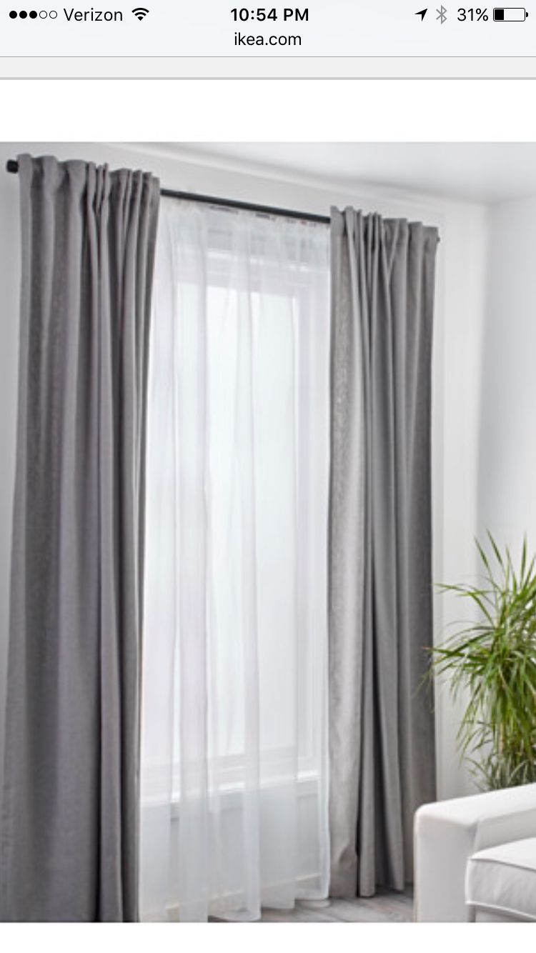 Sheer Curtains Behind Colored Ones In Nursery And Living Room