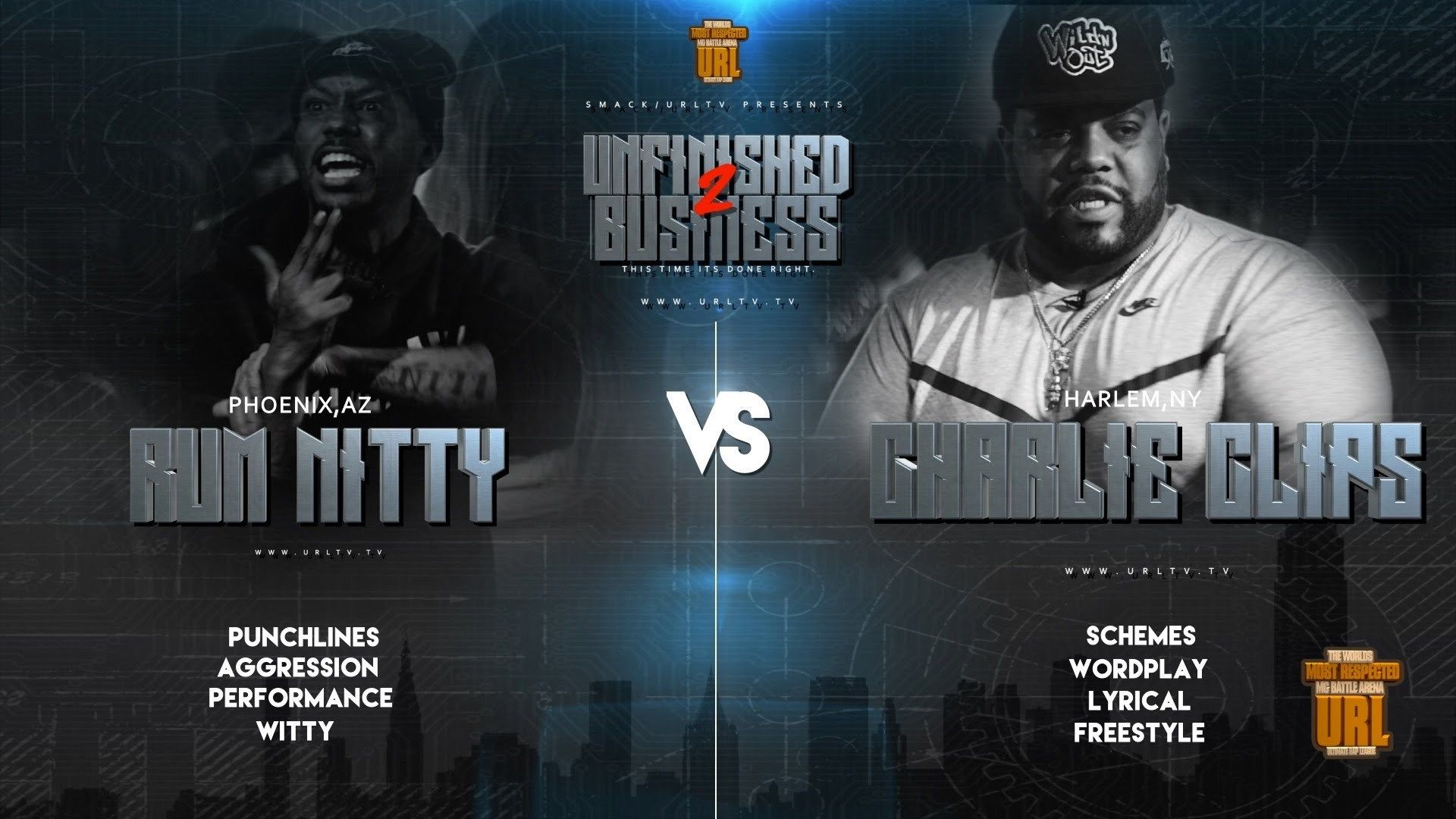 Rap Battle: Rum Nitty vs Charlie Clips (Video) | Battle Rap