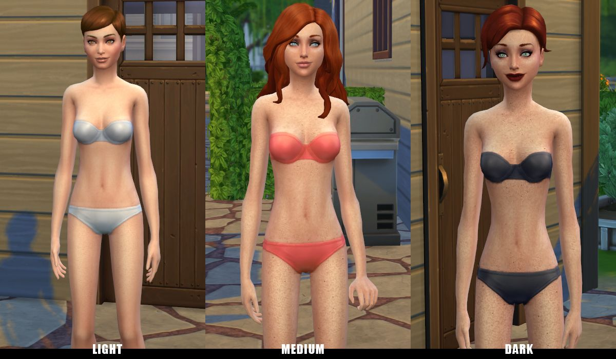 Mod The Sims Face And Body Freckles Face And Body Freckles