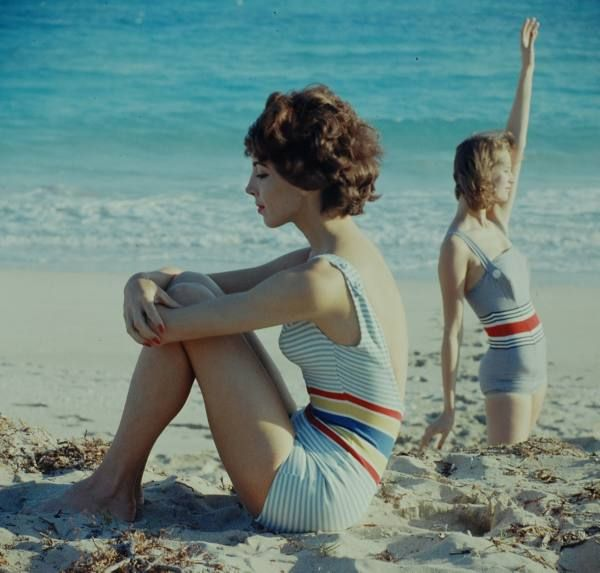 Cuba Beach Fashions - I want one of these! cutest 50's swimsuit and so modest! <3
