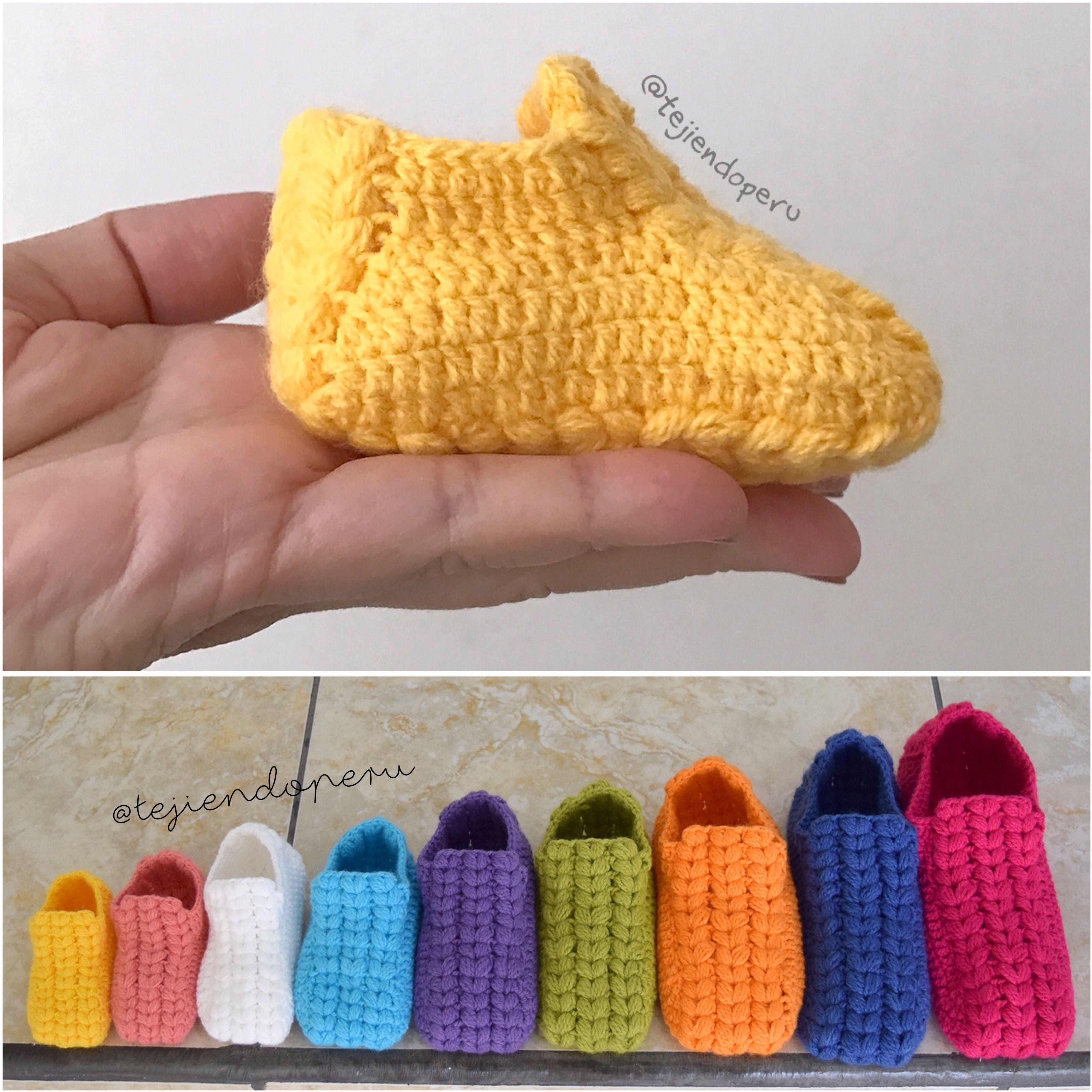 Crochet: zapatos o pantuflas con trenzas gorditas paso a paso en 9 ...