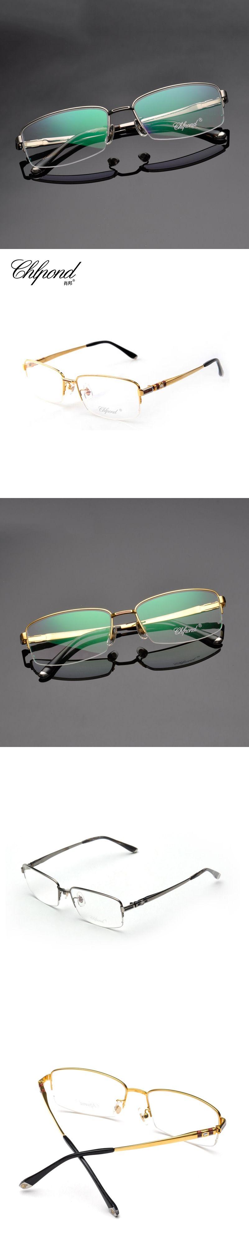 28efe1821a Chlpond Luxury 100% Pure Titanium Half Rim Brand Eyeglasses Men Optical  Spectacle Frame Eye Prescription
