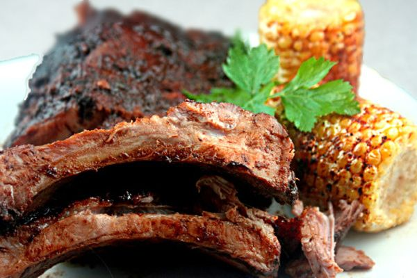 Amazing Dry Rub Oven Roasted 'Fall off the Bone' Ribs and easy homemade BBQ Sauce with a secret ingredient that takes it over the top!