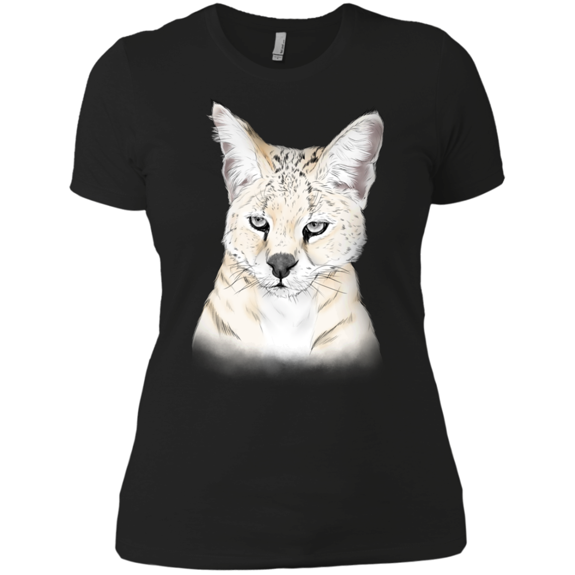 Frosty the White Serval Color NL3900 Next Level Ladies