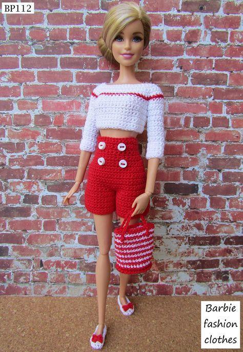 Pin de Zyxxa en Crochet for dolls | Pinterest | Barbie, Muñecas y ...