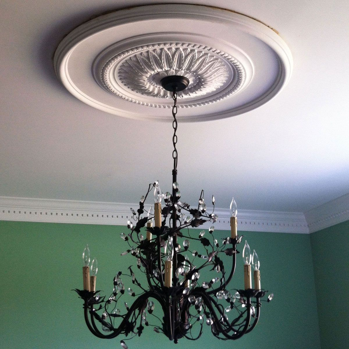ceilings medallions medallion black co ceiling chandeliers tulum for chandelier smsender deria