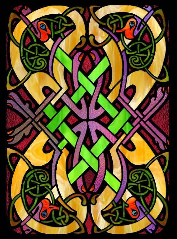 Carol Craig 18 Division From Celtic Stained Glass Coloring Book