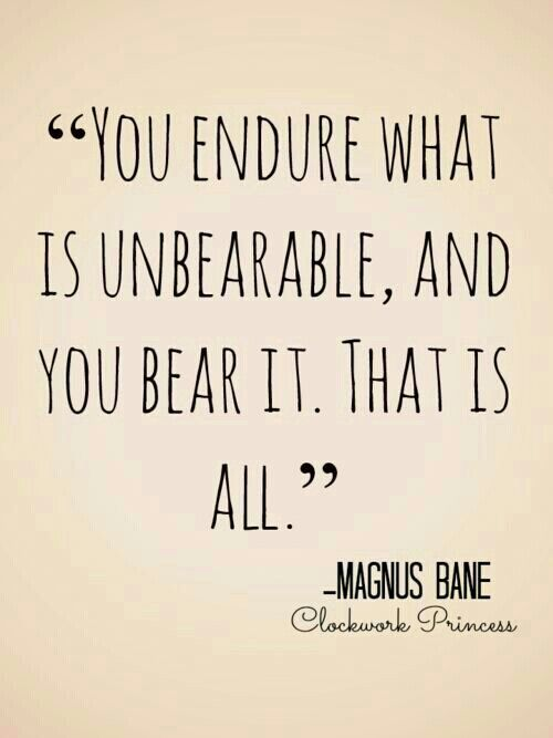 The Infernal Devices. I quote this all the time. Magnus really knows how to touch a heart.