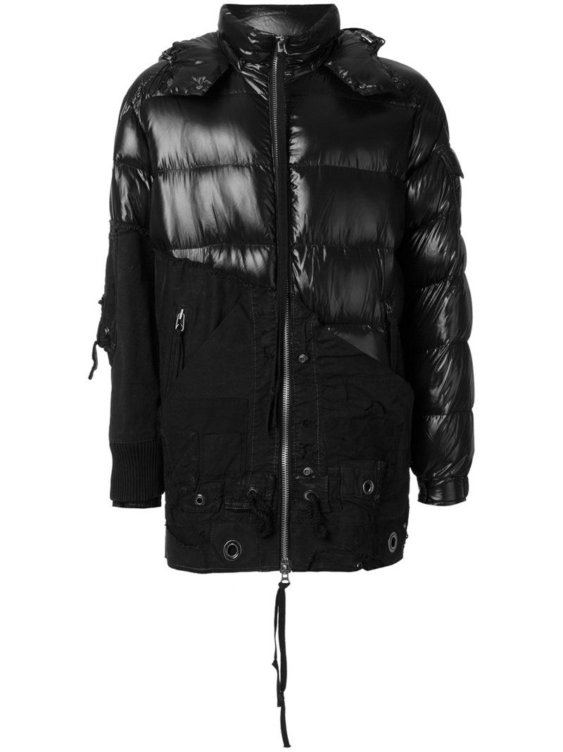 MONCLER X CRAIG GREEN MONCLER X CRAIG GREEN - CONTRAST PANEL HOODED PADDED COAT . #