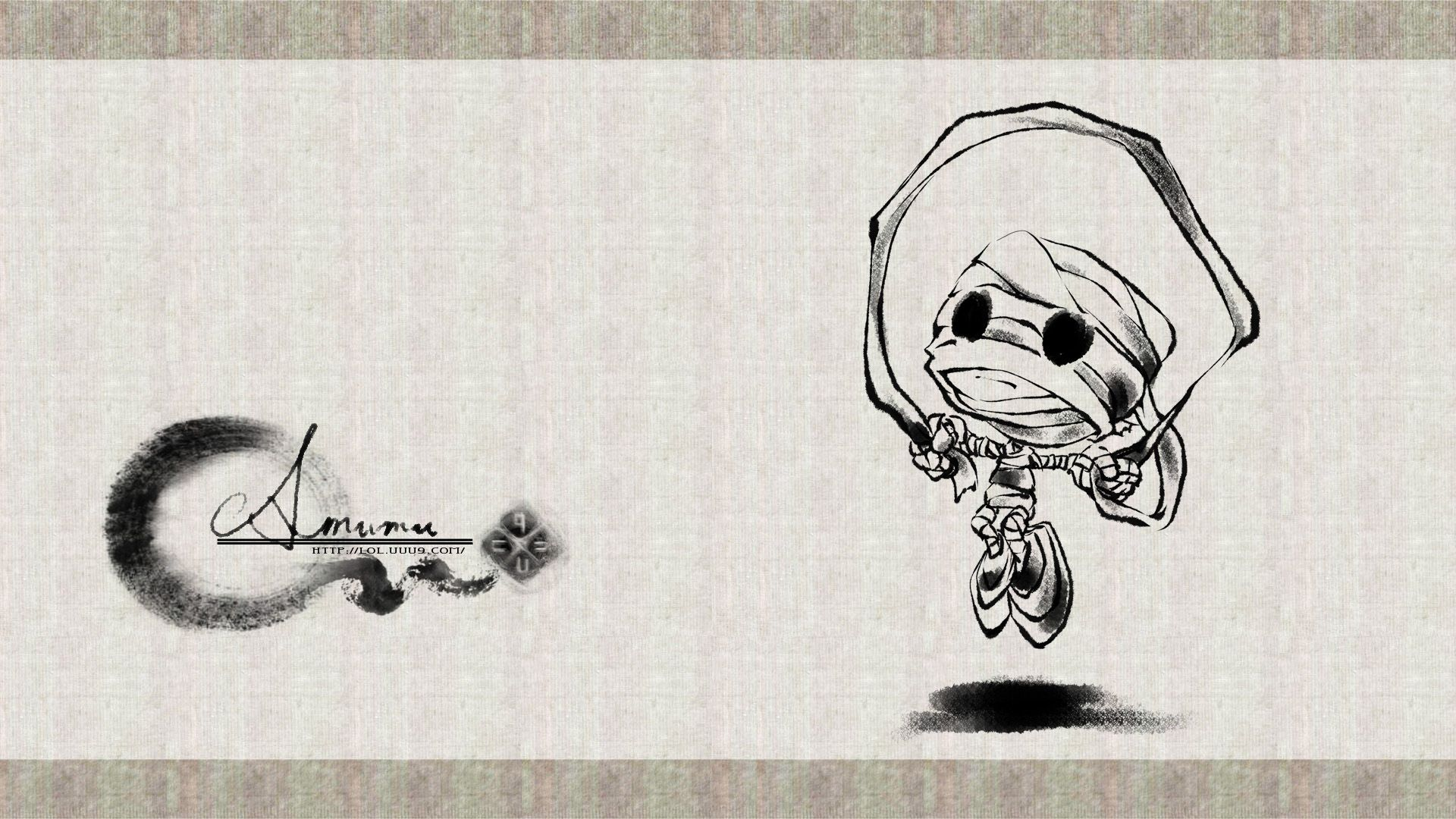 Ink Amumu -- OMG the cuteness.  Look at him jumping rope with his bandages.  Cutest little mummy ever.