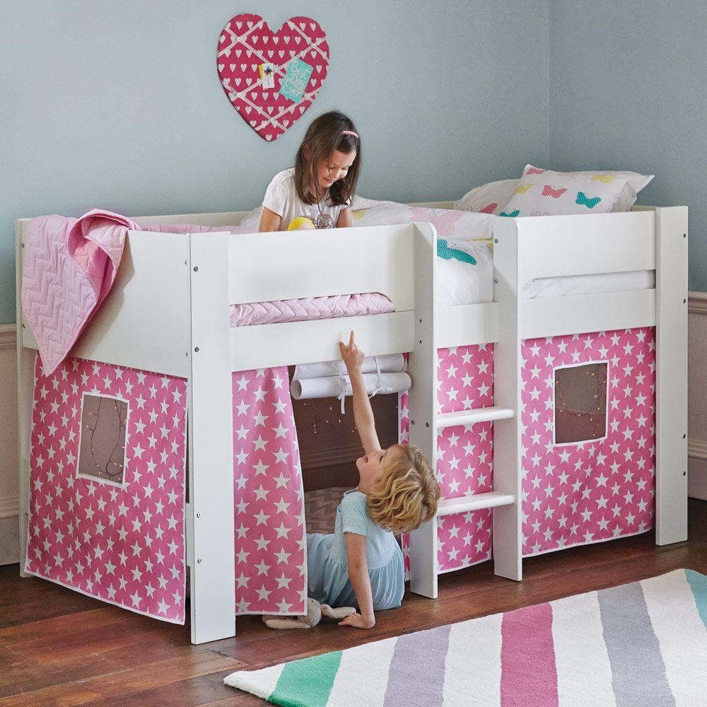 Small Box Room Cabin Bed For Grandma: Paddington Mid Sleeper, Grey Star