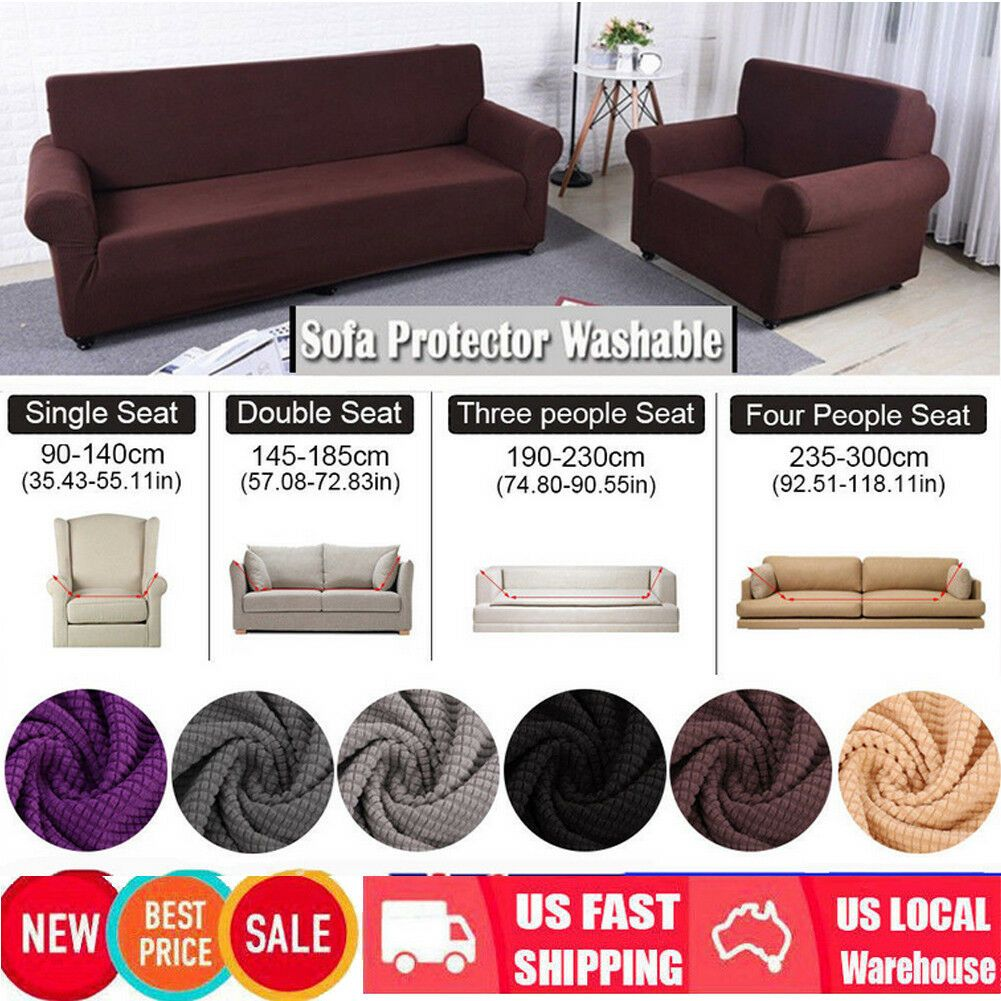 Easy Stretch Couch Sofa Lounge Covers Recliner 1 2 3 4 Seater Dining Chair Cover Sofa Lounge Chair S In 2020 Dining Chair Covers Fabric Sofa Cover Slipcovered Sofa