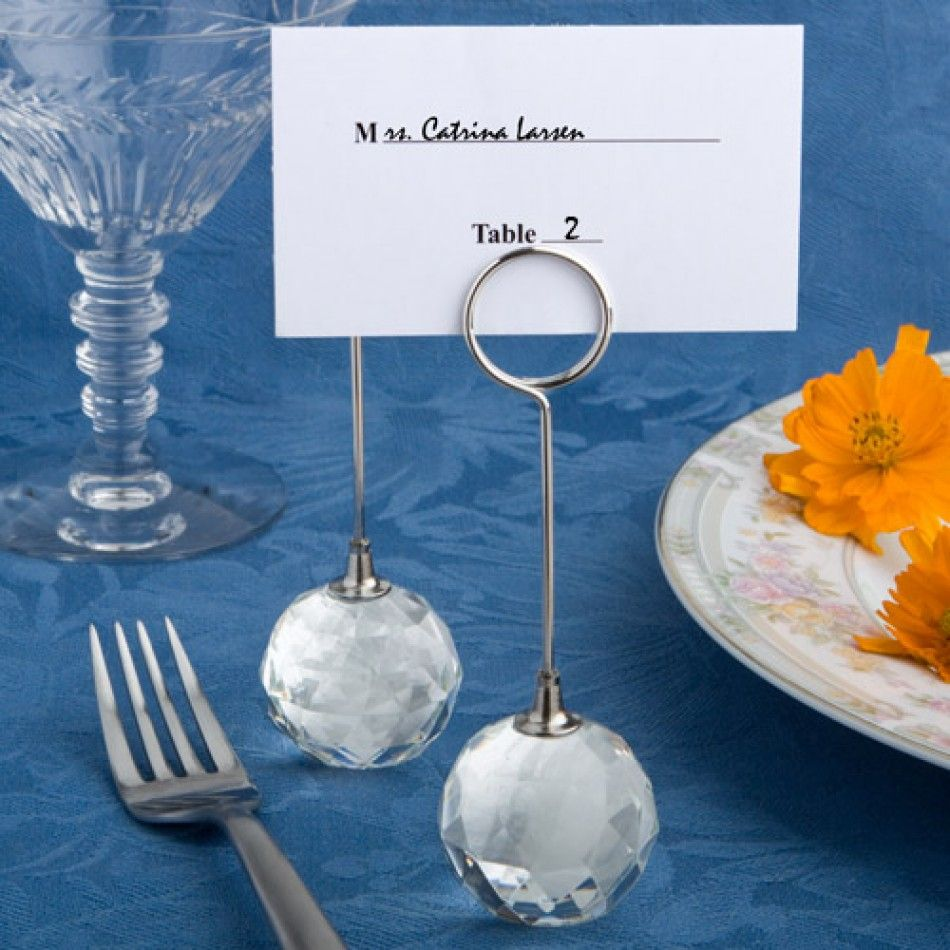 Choice Crystal Collection Ball Place Card Holders Wholesale Wedding Supplies Discount Favors Party