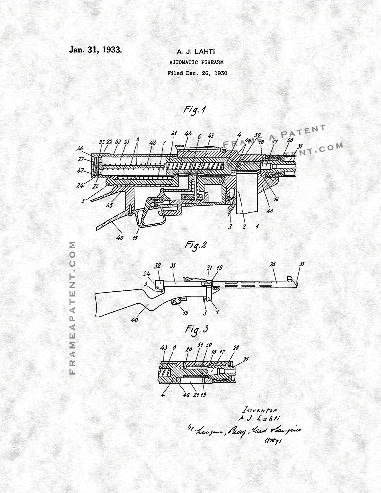 Automatic Firearm Patent Print