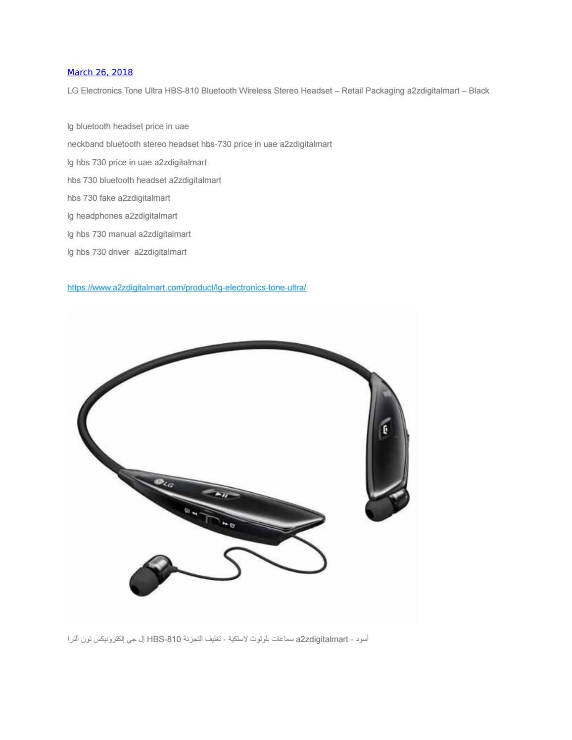Lg Electronics Tone Ultra Hbs 810 Bluetooth Wireless