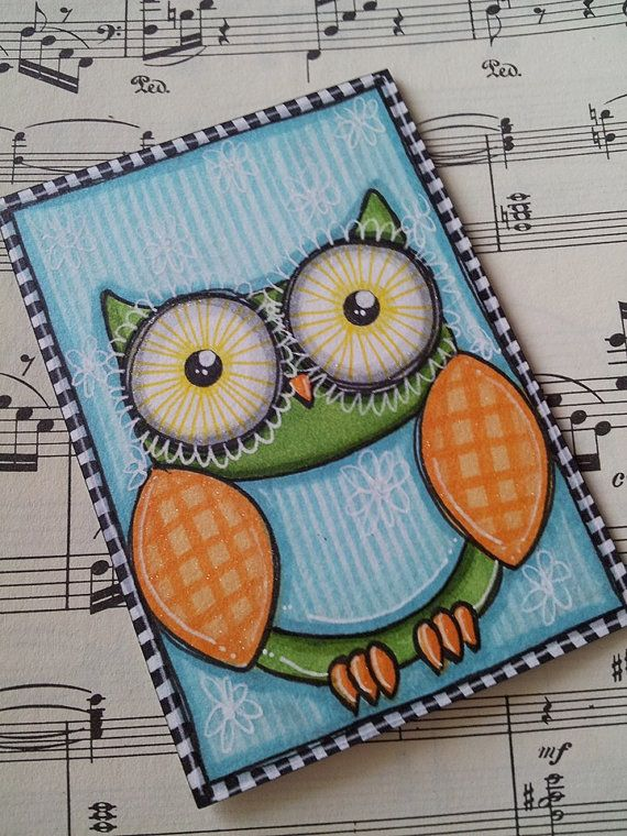 Check out this item in my Etsy shop https://www.etsy.com/listing/235229530/whimsy-owl-original-aceo-art-card-by