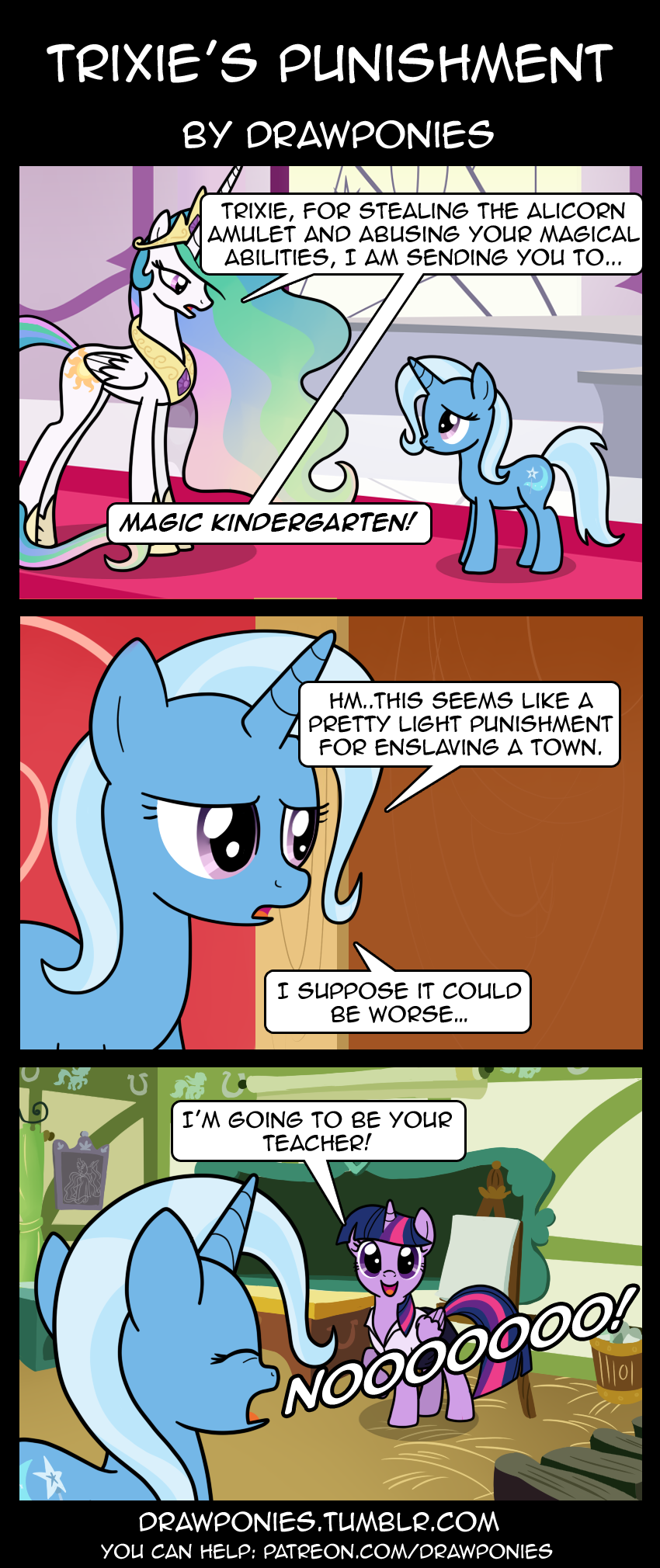 Trixie S Punishment By Drawponies Deviantart Com On