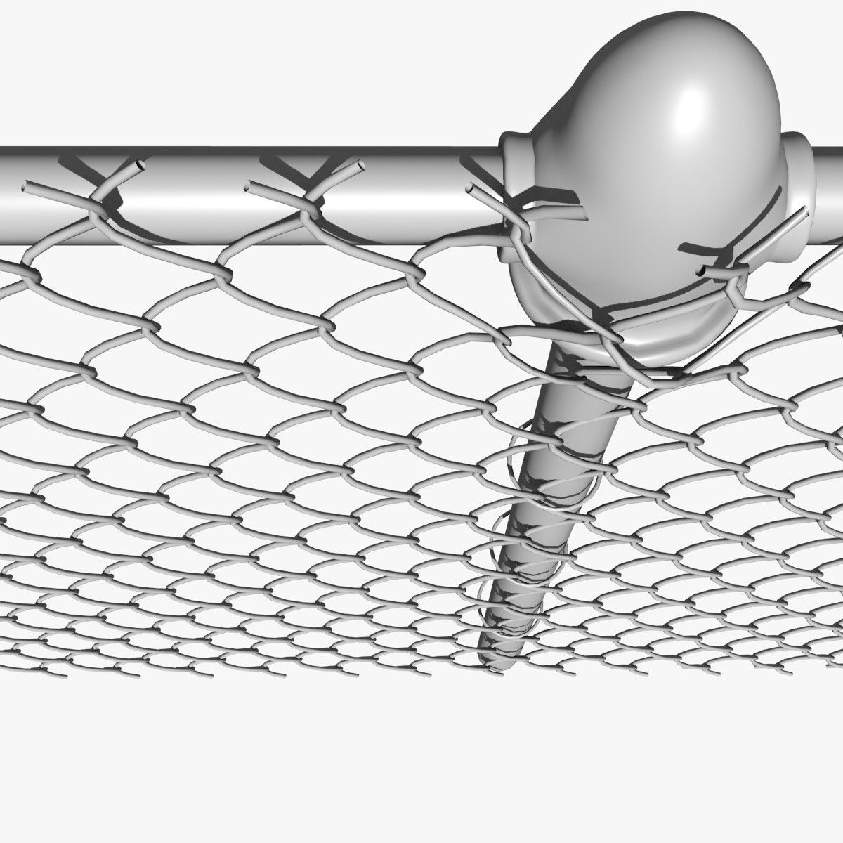 chain link fence metal 3d dxf | Dettagli | Pinterest | Chain link ...
