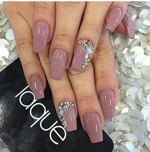 neutral diamond nails nailz