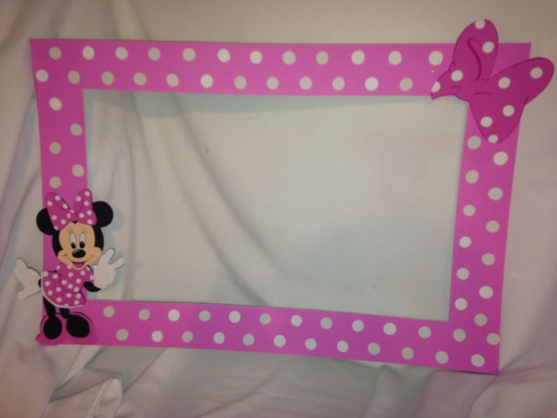 Photo Frame Party Prop Mickey Minnie Mouseto Take