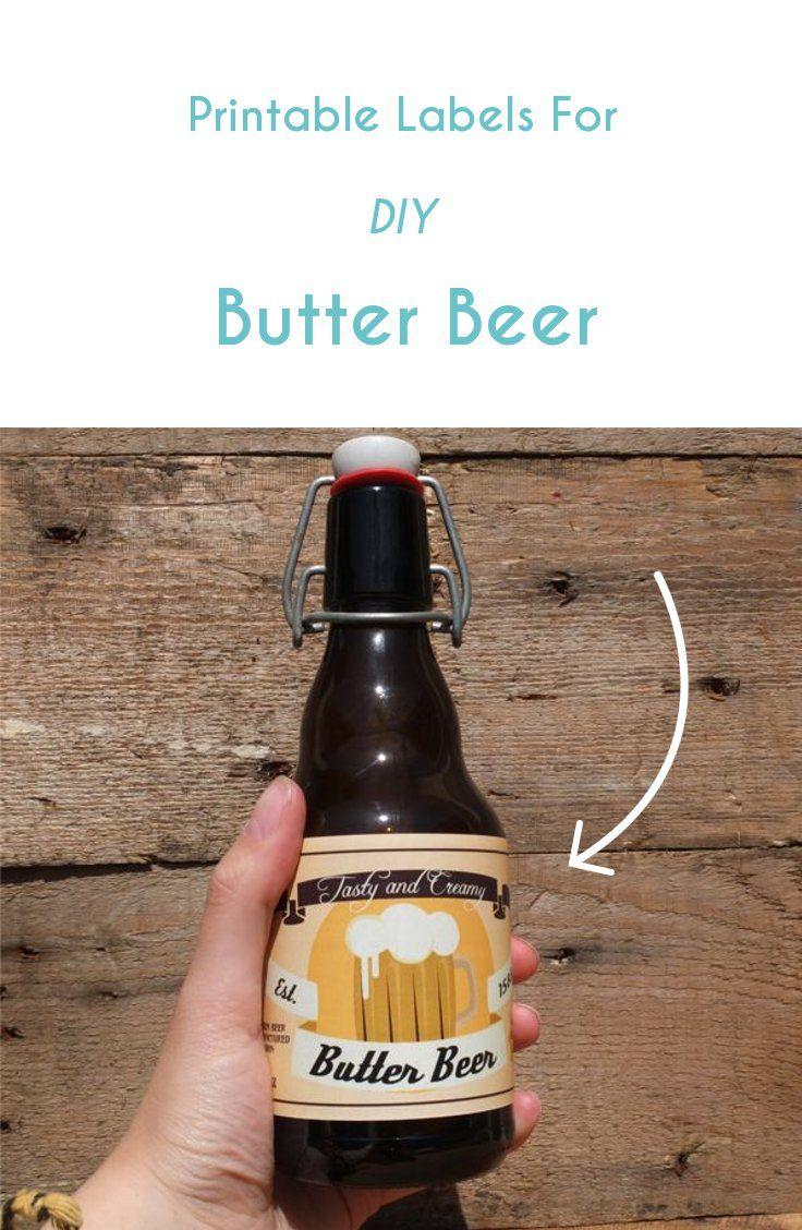 Butter Beer labels Printable PDF Beer label