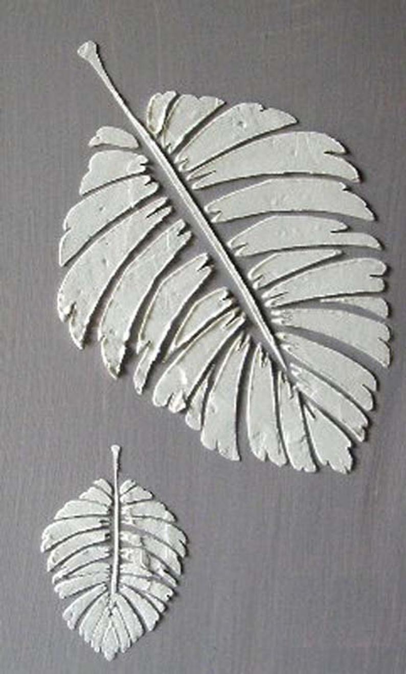 Stencil Raised Plaster Stencil Formosa Palm Leaf Stencil Etsy In 2020 Leaf Wall Stencil Plaster Wall Art Stencils Wall